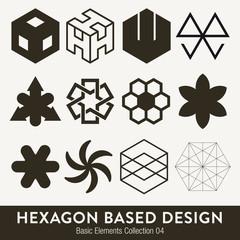 Basic design collection: hexagon based elments