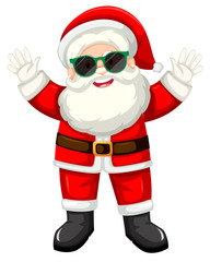 Happy santa with sunglasses