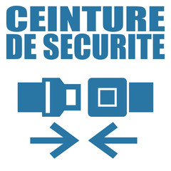 Logo ceinture de sécurité.