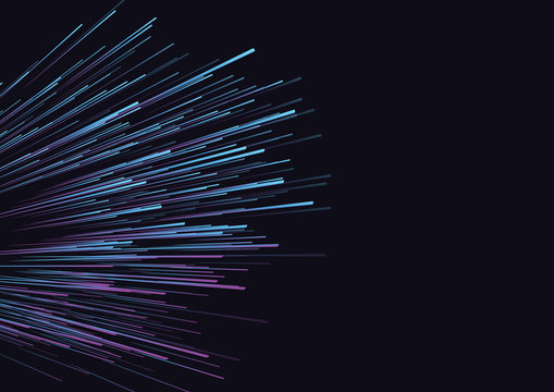 Lines composed of glowing backgrounds, abstract vector background