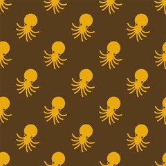 Octopus pattern seamless. Devilfish background. Poulpe vector ornament