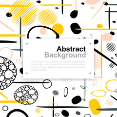 Abstract colorful pattern background for template design with area for text. Vector.