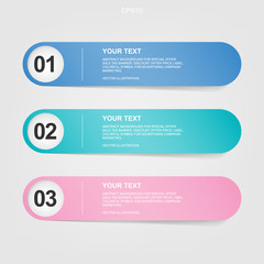 Banner paper tag for business background. Vector.