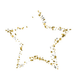 3d Golden star vector banner. Simple form. Template , card, vip, exclusive, certificate, gift luxury privilege voucher store present shopping