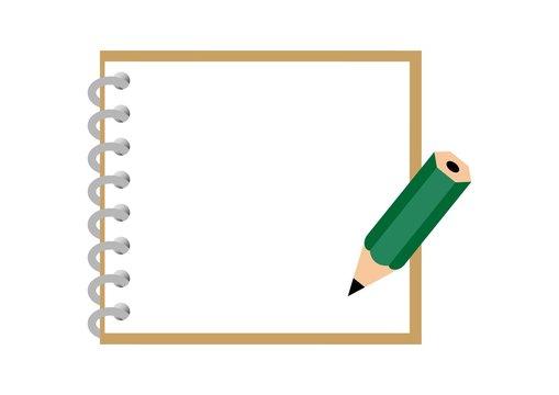 メモ帳と鉛筆のフレーム