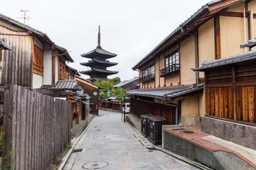 Oriental streets in Kyoto