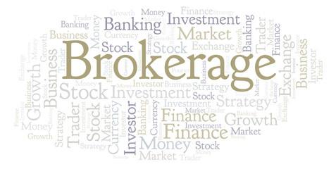 Brokerage word cloud.