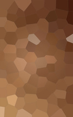 Illustration of Vertical brown and yellow colorful Big Hexagon background.