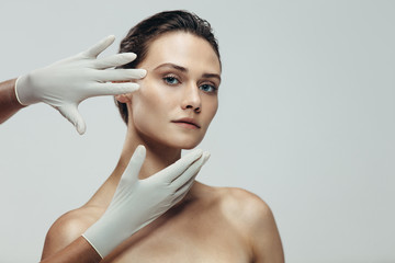 Face skin check before plastic surgery