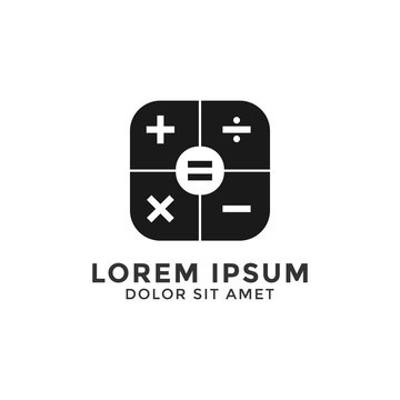 Simple calculator logo icon design template vector