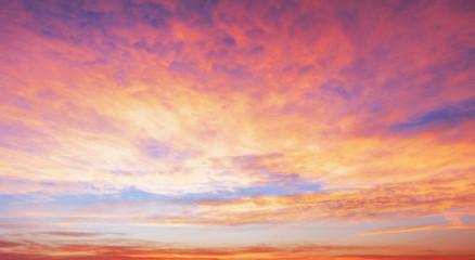 Season concept: Sky autumn sunrise background