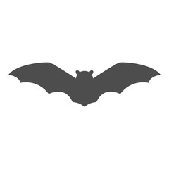 Flying bat silhouette. Halloween decoration. Vector.