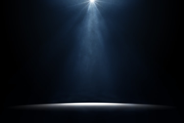 Poster Lumiere, Ombre moody stage light background