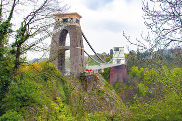 BRISTOL, UNITED KINGDOM - MAY 2 2016 : View of Clifton Suspension Bridge during the day
