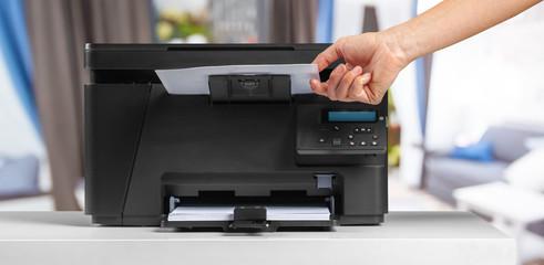 Printer, copier, scanner. Office table