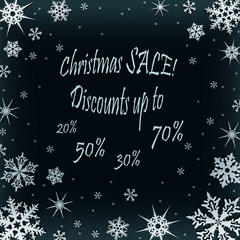 Christmas coupon for a discount in the store.