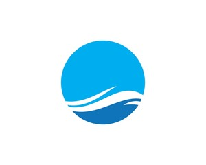 Water Wave symbol and icon Logo Template