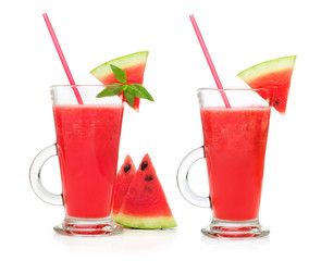 watermelon smoothie in a glass