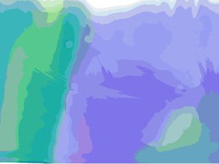 Abstract colorful water color art background. Hand paint on white background. Vector illustration