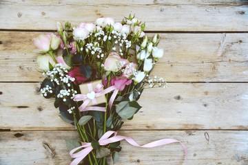 Grußkarte - Blumenstrauß - Rosen