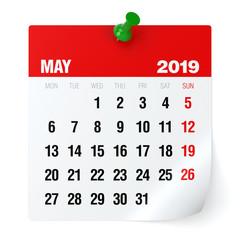 May 2019 - Calendar.