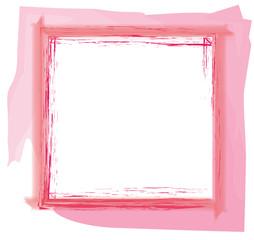 breiter dicker Rahmen Quadrat gemalt rosa rot