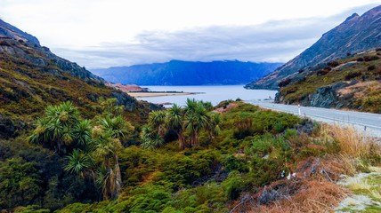 lake hawea new zealand road to lake