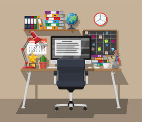 Modern creative office or home workspace.