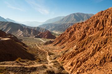 Paseo de los Colorados in Purmamarca, 7 colours mountain in northwest of Argentina