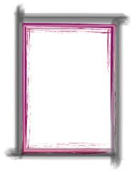 schwarz pink rosa breiter Rahmen gemalt
