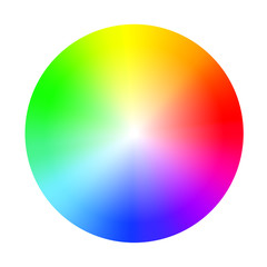Color wheel guide with saturation and highlight. Colour picker assistant.