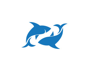 Shark illustration Logo