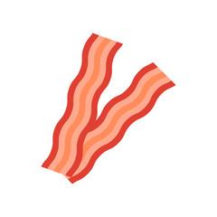 Bacon icon. Flat style