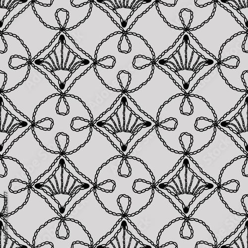 Lace seamless pattern crochet loops