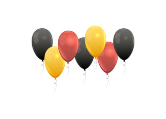 Realistic balloons in germany national colors