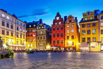 Stortorget in the Old Town of Stockholm, Sweden