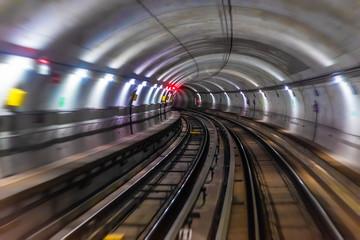 Subway metro underground tube tunnel
