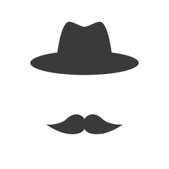 Mustache with hat