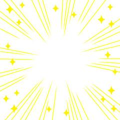 Fototapeta 集中線と輝きのイラスト