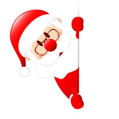 Santa Left Side Vertical Banner Thumb up