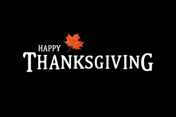 Happy Thanksgiving Day poster.
