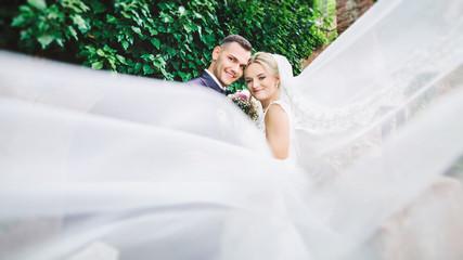 caucasian happy romantic young couple