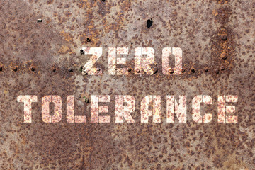 Zero tolerance on an old dirty wall