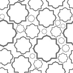 Seamless pattern geometric ramadan design. Vector illustration. Isolated on white background