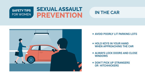 Sexual assault prevention: how to be safe in a car