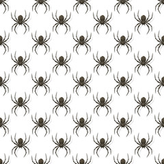 Seamless background with black spiders