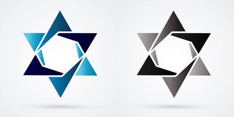 Israel star, modern star, luxury graphic vector.