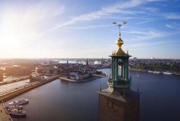In de dag Stockholm Aerial view of Stockholm City