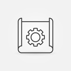 Technical documentation thin line vector concept icon