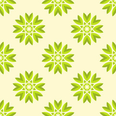 Abstract flower seamless pattern.